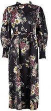 Frankie High Neck Volume Sleeve Floral Midi Dress