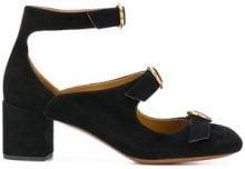 Chloé - Pumps 'Mary Jane' - women - Suede/Leather - 39.5, 37, 38, 39 - BLACK