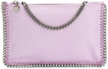 Stella McCartney - Borsa Clutch 'Falabella' - women - Artificial Leather - OS - Rosa & viola