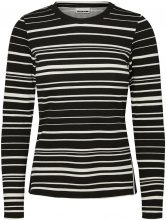 NOISY MAY Striped Long Sleeved Top Women Black