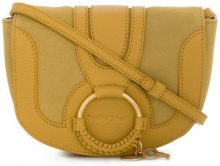 See By Chloé - Hana satchel - women - Lamb Skin/Calf Leather/Cobra - One Size - YELLOW & ORANGE