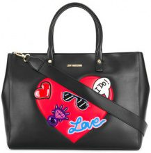Love Moschino - heart embellished tote - women - Leather - OS - BLACK