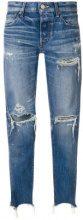Moussy - Jeans - women - Cotton/Leather - 27, 28 - BLUE