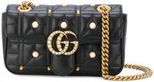 Gucci - Borsa a spalla - women - Leather/Pearls/metal - OS - BLACK