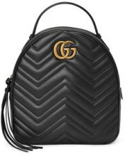 Gucci - Zaino GG Marmont in pelle trapuntata - women - Leather/metal/Microfibre - One Size - BLACK