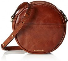 Royal RepubliQ Round Evening Bag, Donna Borse a spalla, Marrone (Cognac) 5.5x18x18 cm (B x H x T)