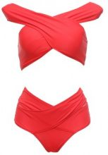 Bikini a spalle scoperte incrociato