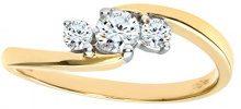 Naava Anello da Donna in Oro Giallo/Bianco 9K con Diamanti, Misura 15.5