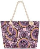 Binlion Canvas Beach Tote Bag