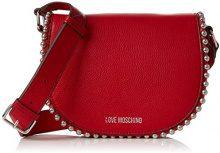 Love Moschino Borsa Vitello Pebble Rosso - Borse Baguette Donna, (Red), 6x16x22 cm (B x H T)
