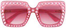 Gucci Eyewear - Occhiali da sole oversize decorati - women - Acetate - 53 - PINK & PURPLE