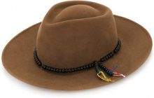 - Sensi Studio - beaded band hat - women - lana - L - color marrone
