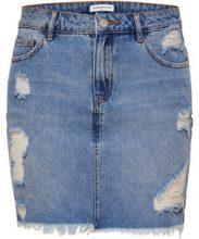 ONLY High Low Denim Skirt Women Blue