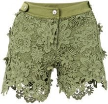 Just Cavalli - Pantaloni corti - women - Polyester/Viscose - 38, 40 - GREEN