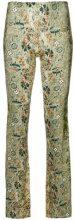 Black Coral - Pantaloni svasati con stampa a fiori - women - Spandex/Elastane/Viscose - One Size - GREEN