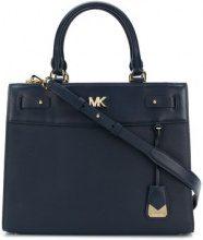 Michael Michael Kors - Reagan large satchel - women - Calf Leather - One Size - BLUE