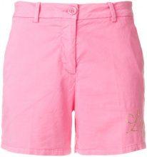 Love Moschino - studded logo shorts - women - Cotton/Spandex/Elastane - 38, 40, 42, 44 - PINK & PURPLE
