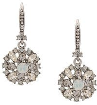 Marchesa Notte - crystal pendant earrings - women - Crystal/metallo placcato argento - OS - Grigio