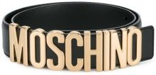 Moschino - Cintura con logo - women - Leather/Metal (Other) - 95 - BLACK