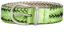 B-Low The Belt - Cintura con motivo intrecciato - women - Calf Leather - S, M, L - Verde