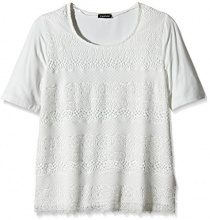 TAIFUN by Gerry Weber Casino 1-T-shirt  Donna, Bianco (Off-White 99700), 36