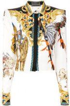 Versace - Camicia 'Native American' - women - Silk/Acetate - 40, 42 - WHITE