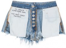 Unravel Project - Shorts denim 'Inside Out' - women - Cotton/Polyester - 26, 27 - BLUE