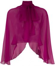 Alberta Ferretti - sheer capelet - women - Silk - L, S - PINK & PURPLE