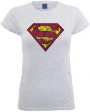 DC Comics - Maglietta, Manica corta, Donna, grigio (Heather Grey), S