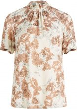 Y.A.S Floral Short Sleeved Blouse Women Beige