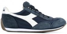 Diadora - stonewash canvas and suede trainers - men - Cotton/Calf Leather/Leather/rubber - 6, 6.5, 7.5, 8, 8.5, 9, 9.5 - BLUE