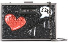 Love Moschino - glitter clutch - women - Polyurethane/Sequin - One Size - METALLIC