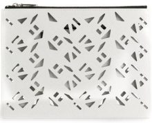 Kenzo - Traforated clutch - women - Polyurethane/Cotton/Polyamide/Leather - OS - WHITE