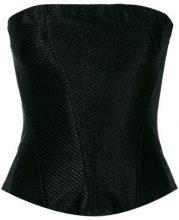 Moschino Vintage - textured corset - women - Rayon - 42 - BLACK