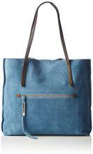 Stonefly Shopp Taylor PR1110, Borse a Tracolla Donna, Blu (Jeans/Brown), 7X35X42 cm (B x H x T)