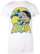DC Comics Batman Retro, T-Shirt Donna, White (White White), 44