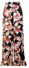 Sian Premium Wide Leg Ruffle Floral Trouser