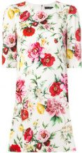 Dolce & Gabbana - floral print shift dress - women - Silk/Spandex/Elastane - 44, 46, 48, 38, 40, 42 - WHITE