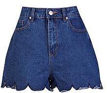 Pantaloncini Mom jeans con fondo smerlato a Shona