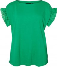 JUNAROSE Ruffle Blouse Women Green