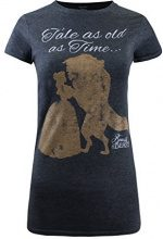 Disney Tale Old As Time, T-Shirt Donna, Grey (Dark Heather), 40