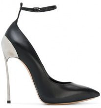 Casadei - Pumps 'Techno Blade' con cinturino alla caviglia - women - Leather/Nappa Leather - 36, 36.5, 38, 38.5, 39, 39.5, 40.5, 41 - BLACK