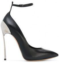 Casadei - Pumps 'Techno Blade' con cinturino alla caviglia - women - Leather/Nappa Leather - 36, 36.5, 38, 39 - Nero