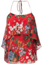 Alice+Olivia - Top floreale - women - Silk/Polyester/Spandex/Elastane - XS - RED