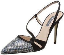 SJP by Sarah Jessica Parker Quinn, Scarpe con Cinturino alla Caviglia Donna, Multicolore (Black/Scintillate), 38 EU