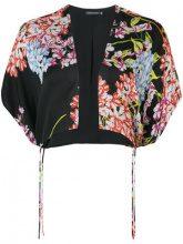 - Josie Natori - blossom bolero - women - seta - S, M, XL - di colore nero