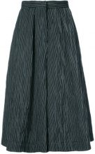 Co - flared culotte trousers - women - Cotton/Polyester/Polyurethane - S, L - BLACK