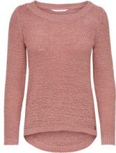 ONLY Solid Knitted Pullover Women Pink