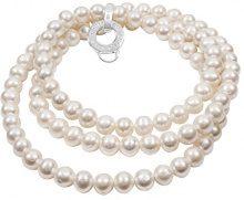 Thomas Sabo x0055–082–14-L rotondo bianco perla d' acqua dolce 90cm collana in argento Sterling 925