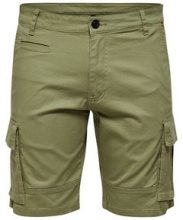 ONLY & SONS Cargo Shorts Men Green